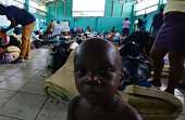 Migrants in a shelter in Penas Blancas Guanacaste Costa Rica in the border with Nicaragua on July 19 2016 In a makeshift camp at barely one kilometer...