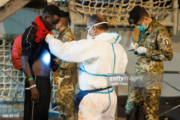 Migrants landed saved in the Sicilian canal and in international waters in front of the Libyan coasts On board of Spanish ship 'Canarias' 526...
