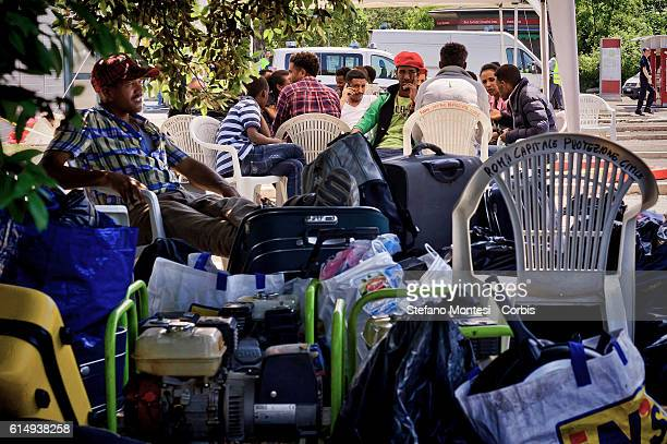 Migrants remained homeless after the eviction of their settlement by the police near the metro station of Ponte Mammolo inhabited by about 400...