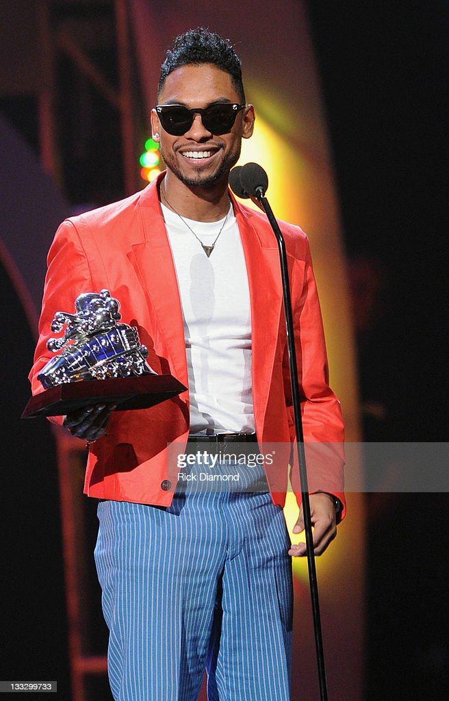 Miguel accepts SoulTrain Best New Artist Award at the 2011 Soul Train Awards at The Fox Theatre on November 17, 2011 in Atlanta, Georgia.