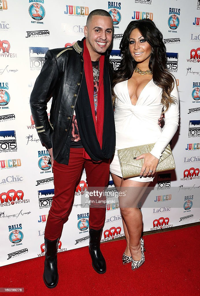Miguel Allure and Tracy Dimarco attend 'Jerseylicious' Season 5 Premiere Party at Midtown Sutton on January 28, 2013 in New York City.