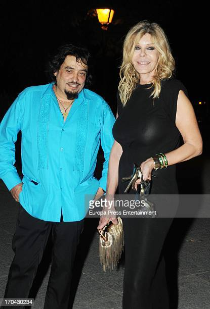 Miguel Angel Arenas 'Capi' and Bibiana Fernandez attend Alaska's 50th's Birthday Party on June 12 2013 in Madrid Spain