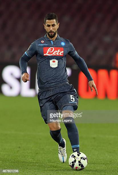 Miguel Angel Britos of Napoli during the Serie A match between SSC Napoli and Atalanta BC at Stadio San Paolo on March 22 2015 in Naples Italy