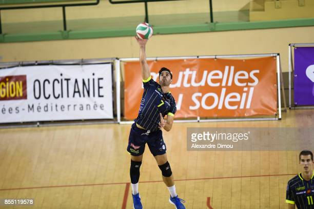 Miguel Angel de Amo of Toulouse during the Volleyball friendly match on September 22 2017 in Montpellier France
