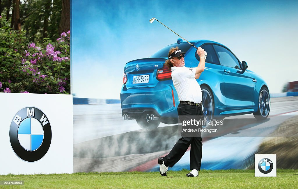 <a gi-track='captionPersonalityLinkClicked' href=/galleries/search?phrase=Miguel+Angel+Jimenez&family=editorial&specificpeople=171700 ng-click='$event.stopPropagation()'>Miguel Angel Jimenez</a> of Spain tees off on the 10th hole during day two of the BMW PGA Championship at Wentworth on May 27, 2016 in Virginia Water, England.