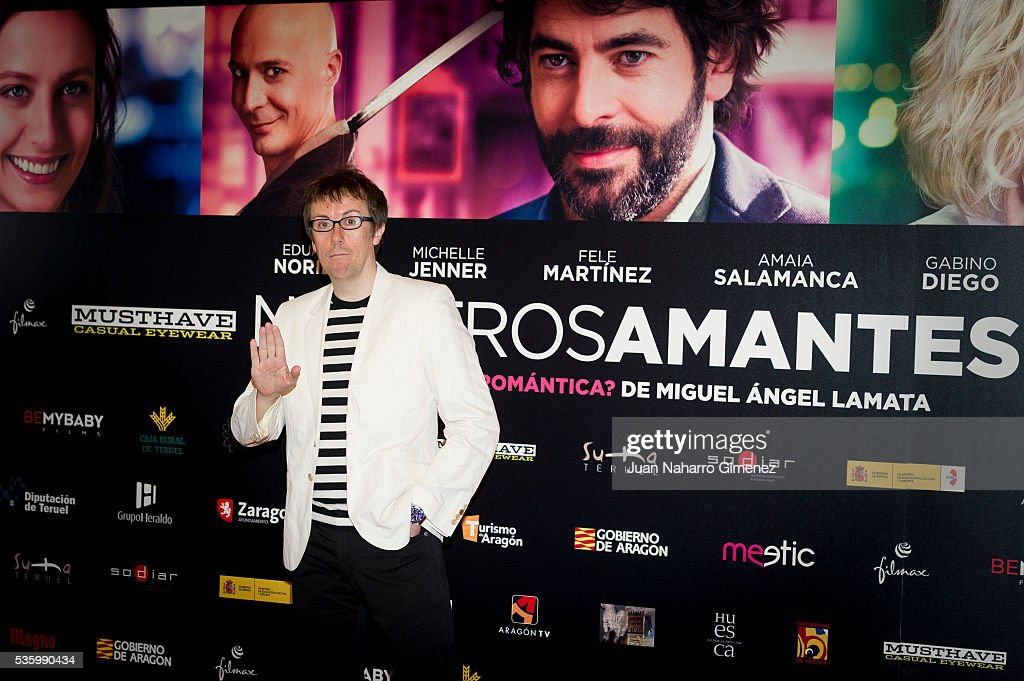 Miguel Angel Lamata attends 'Nuestros Amantes' photocall at Palafox Cinema on May 31, 2016 in Madrid, Spain.