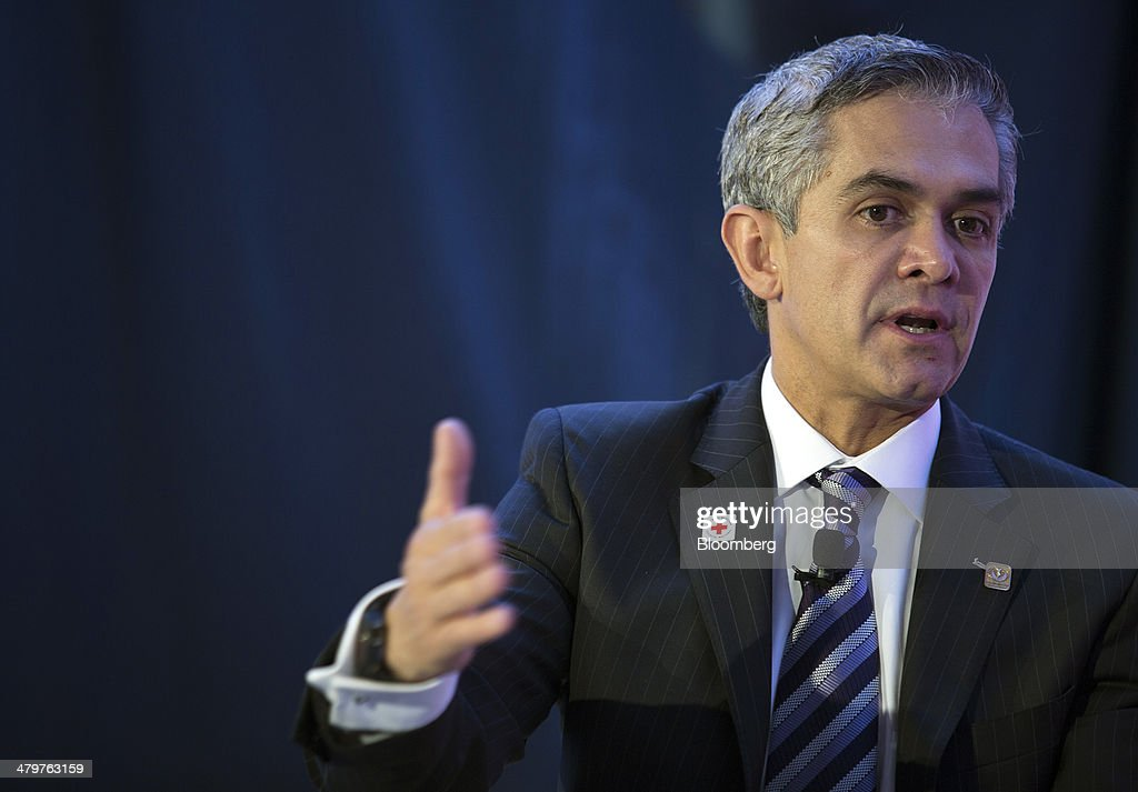 Miguel Angel Mancera, mayor of Mexico City, speaks at the Bloomberg Mexico Economic Summit in Mexico City, Mexico, on Thursday, March 20, 2014. A plethora of reforms in the energy, telecoms, education and tax sectors aim to give the country the necessary momentum to increase productivity and development, improving the standard of living for all Mexicans and giving Mexico a competitive edge. Photographer: Susana Gonzalez/Bloomberg via Getty Images