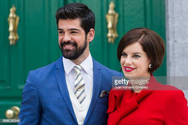 Miguel Angel Munoz and Mariona Ribas attend 'Amar Es Para Siempre' photocall at Cars Studios on August 31 2016 in Madrid Spain