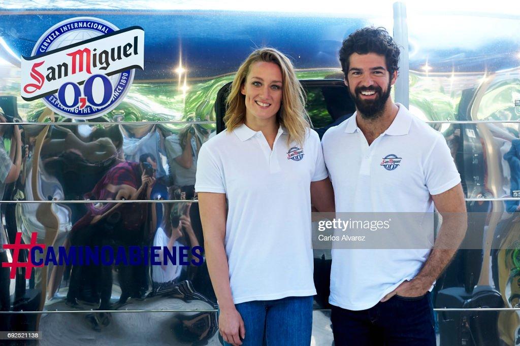 Miguel Angel Munoz And Mireia Belmonte Attend '#Caminoabienestar' Event in Madrid