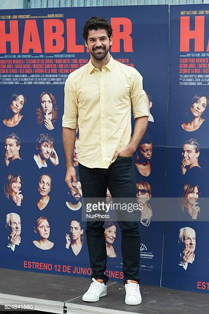 Miguel Angel Munoz attends 'Hablar' photocall at Mirador Sala on June 10 2015 in Madrid Spain