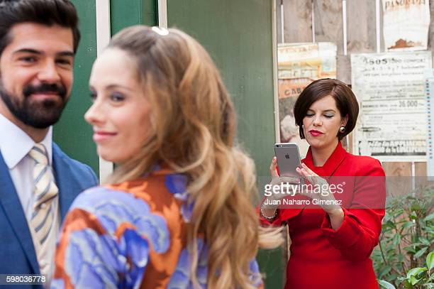 Miguel Angel Munoz Katia Klein and Mariona Ribas attend 'Amar Es Para Siempre' photocall at Cars Studios on August 31 2016 in Madrid Spain