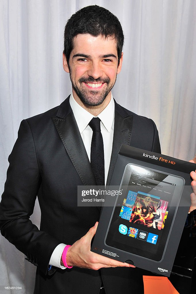 Miguel Angel Munoz poses in the Kindle Fire HD and IMDb Green Room during the 2013 Film Independent Spirit Awards at Santa Monica Beach on February 23, 2013 in Santa Monica, California.