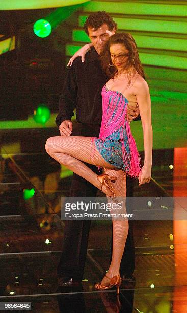 Miguel Angel Nadal performs at the ''Mira quien baila'' dancing show on February 10 2010 in Madrid Spain