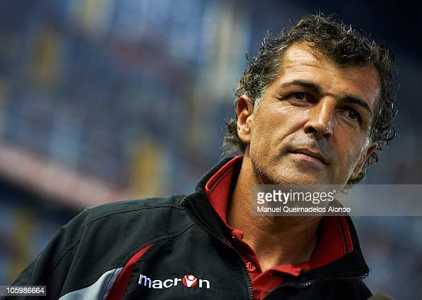 Miguel Angel Nadal uncle of Rafael Nadal and assistant coach of Mallorca looks on before the La Liga match between Valencia and Mallorca at Estadio...