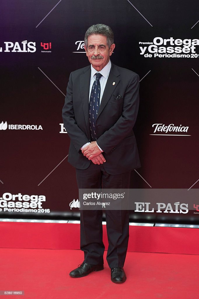 Miguel Angel Revilla attends 'Ortega Y Gasset' journalism awards 2016 at Palacio de Cibeles on May 05, 2016 in Madrid, Spain.