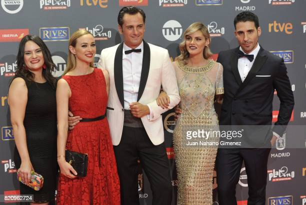 Miguel Angel Silvestre Amaia Salamanca Asier Etxeandia and Marta Hazas attend the 'Platino Awards 2017' photocall at La Caja Magica on July 22 2017...