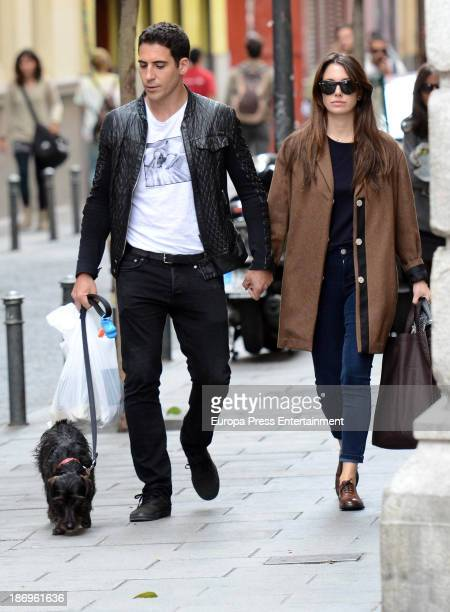 Miguel Angel Silvestre and Blanca Suarez are seen on October 19 2013 in Madrid Spain