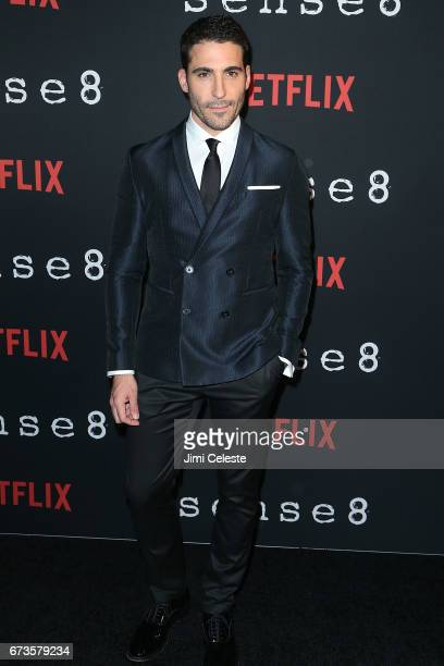 Miguel Angel Silvestre attend the Season 2 Premiere of Netflix's 'Sense8' at AMC Lincoln Square Theater on April 26 2017 in New York City