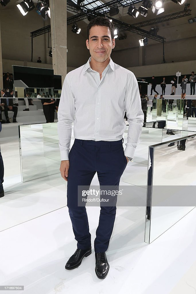 <a gi-track='captionPersonalityLinkClicked' href=/galleries/search?phrase=Miguel+Angel+Silvestre&family=editorial&specificpeople=4001600 ng-click='$event.stopPropagation()'>Miguel Angel Silvestre</a> attends Dior Homme Menswear Spring/Summer 2014 show as part of Paris Fashion Week on June 29, 2013 in Paris, France.