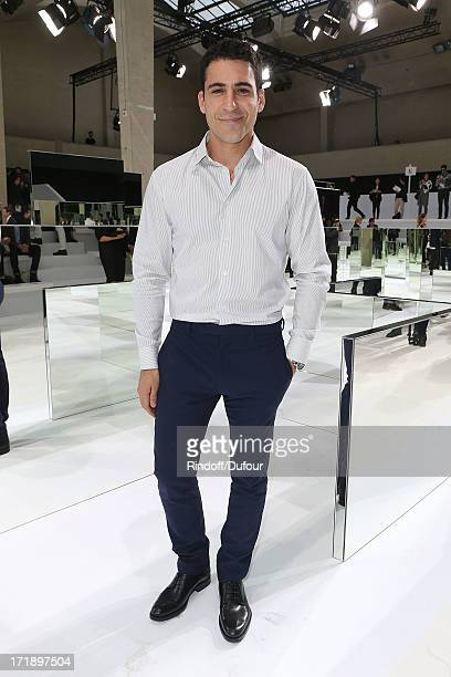 Miguel Angel Silvestre attends Dior Homme Menswear Spring/Summer 2014 show as part of Paris Fashion Week on June 29 2013 in Paris France