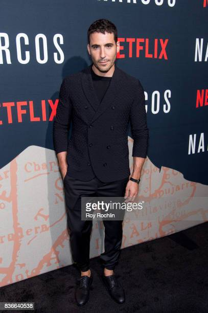 Miguel Angel Silvestre attends 'Narcos' season 3 New York screening at AMC Loews Lincoln Square 13 theater on August 21 2017 in New York City