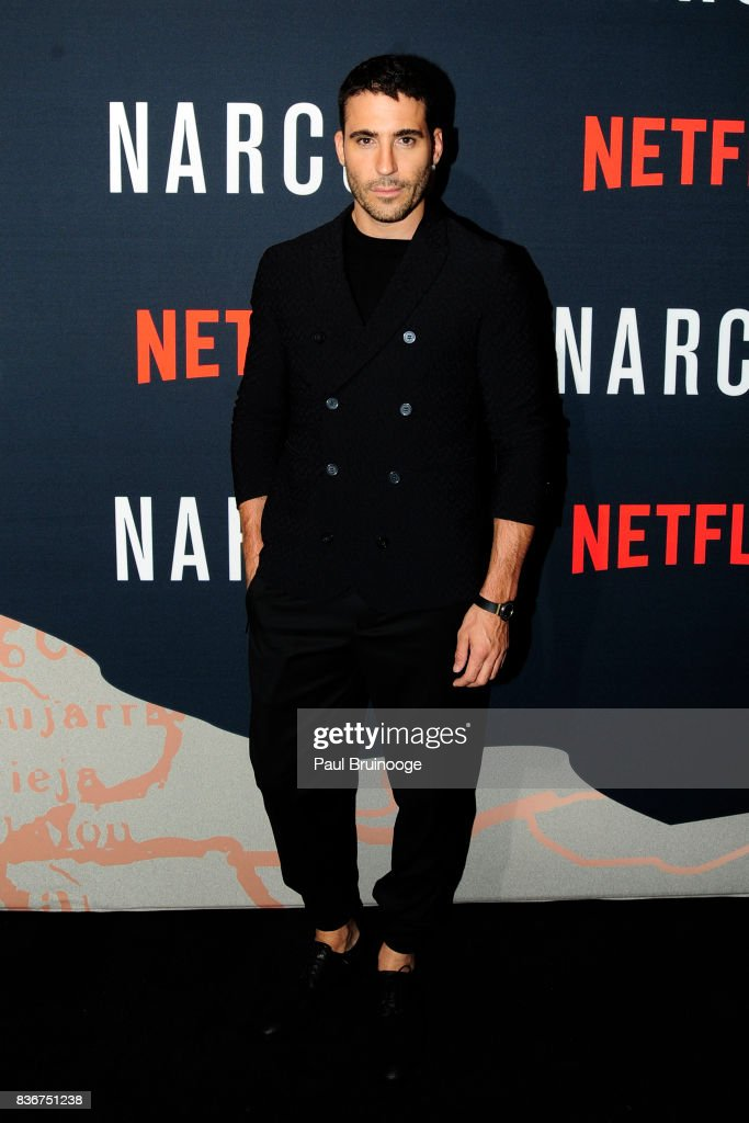 Miguel Angel Silvestre attends 'Narcos' Season 3 New York Screening - Arrivals at AMC Lincoln Square 13 Theater on August 21, 2017 in New York City.