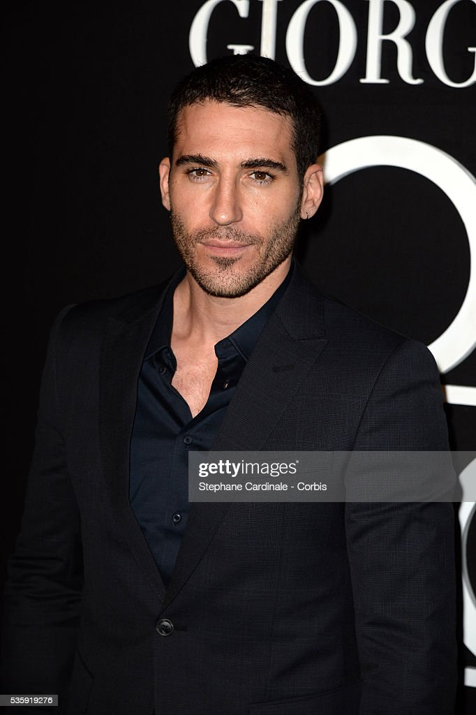 Miguel Angel Silvestre attends the Giorgio Armani Prive show as part of Paris Fashion Week Haute Couture Spring/Summer 2014, at Palais de tokyo in Paris.