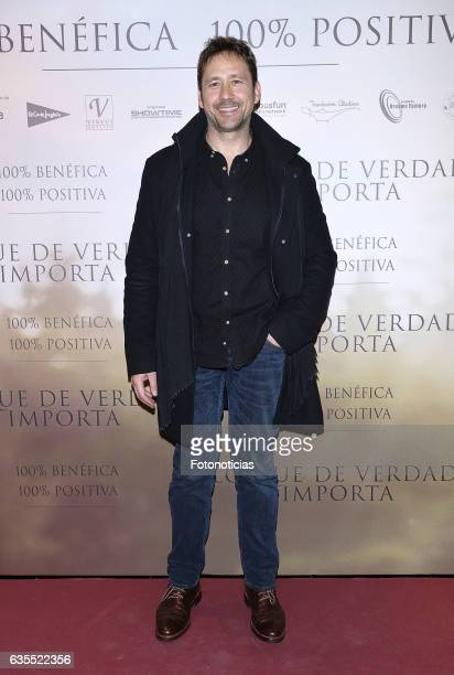 Miguel Angel Tobias attends the 'Lo Que De Verdad Importa' premiere at the Hotel Vincci Capitol on February 15 2017 in Madrid Spain