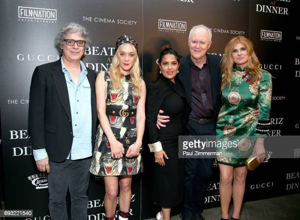 Miguel Arteta Chloe Sevigny Salma Hayek John Lithgow and Connie Britton attend the Gucci The Cinema Society Host A Screening Of Roadside Attractions'...