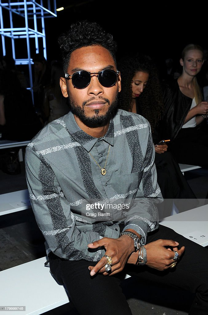 Miguel attends the Alexander Wang fashion show during Mercedes-Benz Fashion Week Spring 2014 at Pier 94 on September 7, 2013 in New York City.