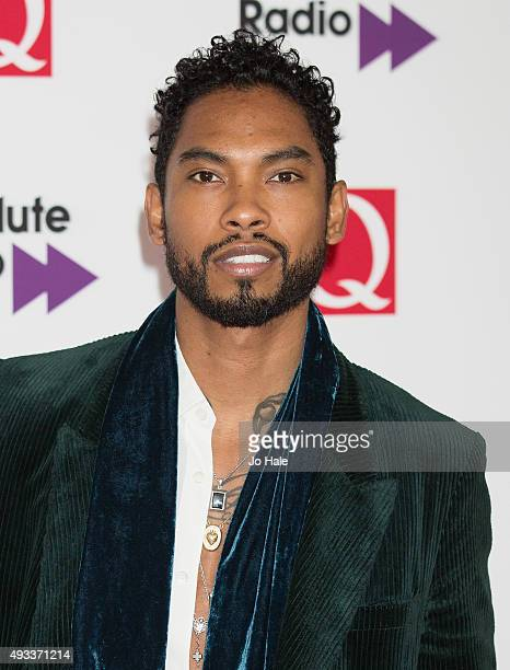 Miguel attends the Q Awards 2015 at The Grosvenor House Hotel on October 19 2015 in London England