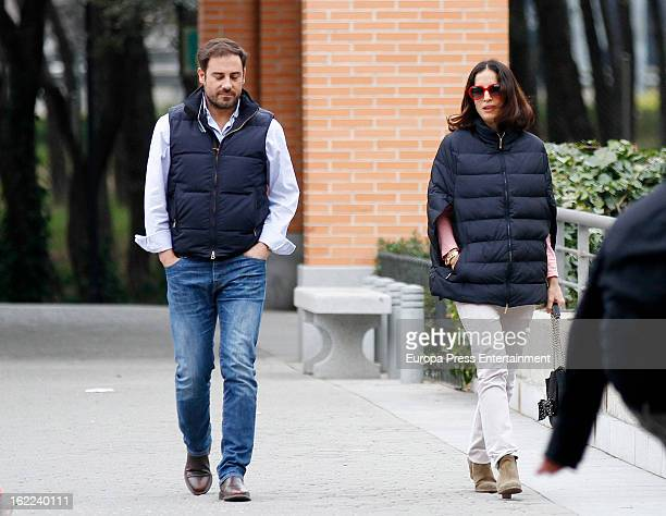 Miguel Baez 'El Litri' and Carolina Adriana Herrera are seen on February 17 2013 in Madrid Spain