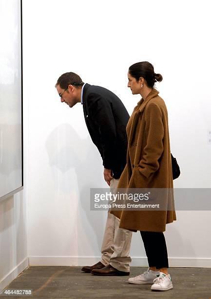 Miguel Baez 'El Litri' and Carolina Adriana Herrera attend ARCO 2015 International Contemporary Art Fair at Ifema on February 25 2015 in Madrid Spain