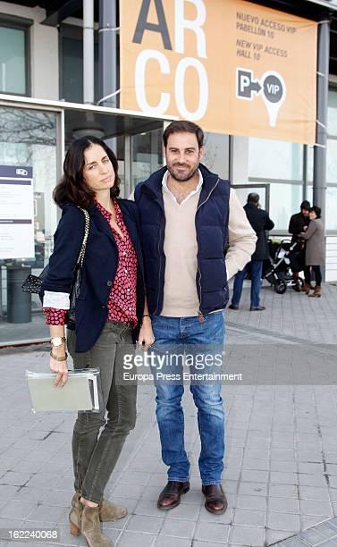 Miguel Baez 'El Litri' and Carolina Adriana Herrera attend International Contemporary Art Fair ARCO 2013 on February 15 2013 in Madrid Spain