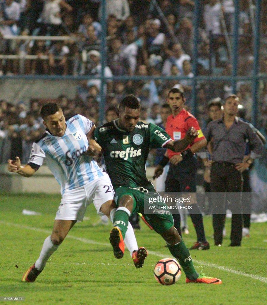 Miguel Borja Hernandez C R of Brazil s Palmeiras vies for the