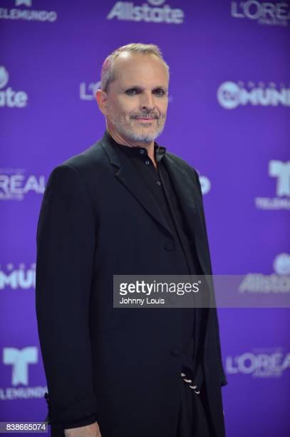 Miguel Bose arrives at Telemundo's 2017 'Premios Tu Mundo' at American Airlines Arena on August 24 2017 in Miami Florida