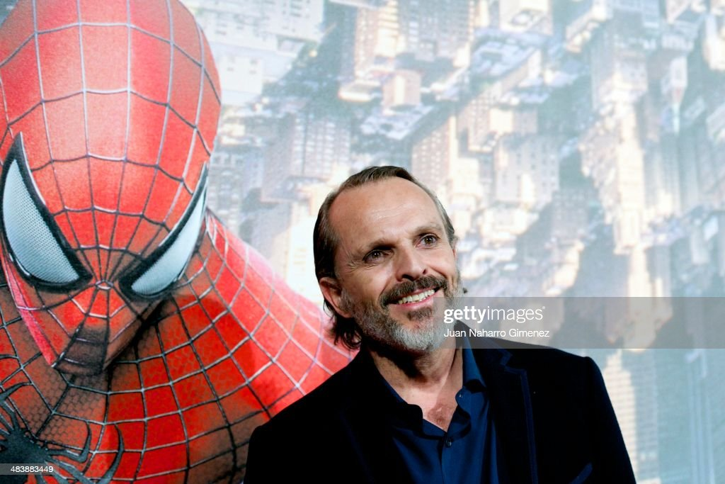 Miguel Bose attends 'The Amazing SpiderMan 2 Rise Of Electro' premiere at US ambassador's residence on April 10 2014 in Madrid Spain