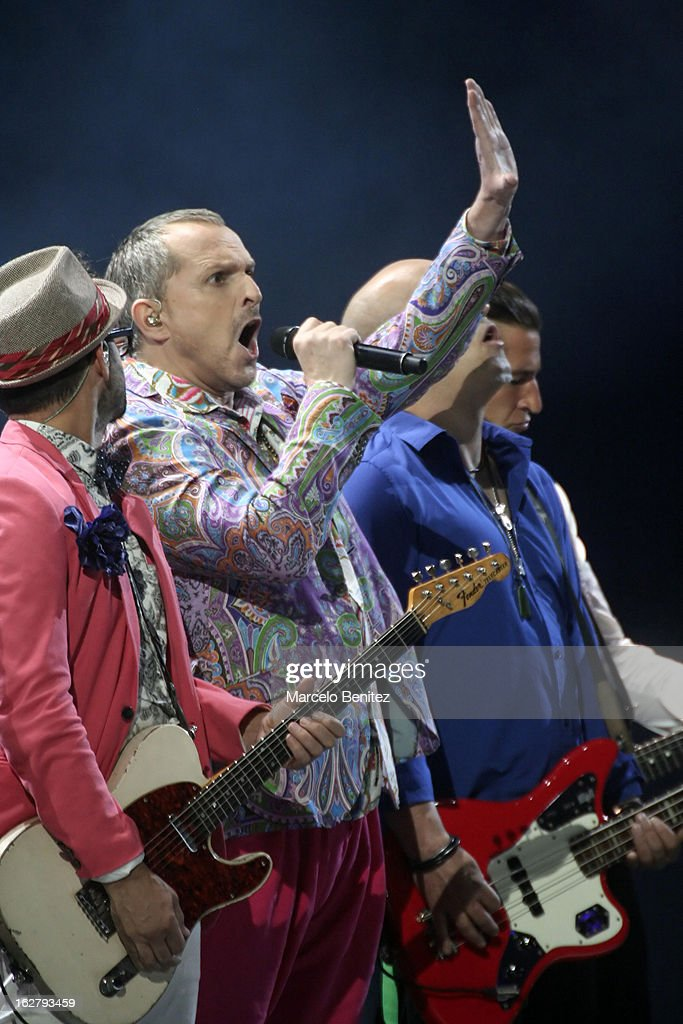 <a gi-track='captionPersonalityLinkClicked' href=/galleries/search?phrase=Miguel+Bose&family=editorial&specificpeople=577901 ng-click='$event.stopPropagation()'>Miguel Bose</a> sings during the 53rd Vina del Mar International Music Festival on February 26, 2013 in Vina del Mar, Chile.