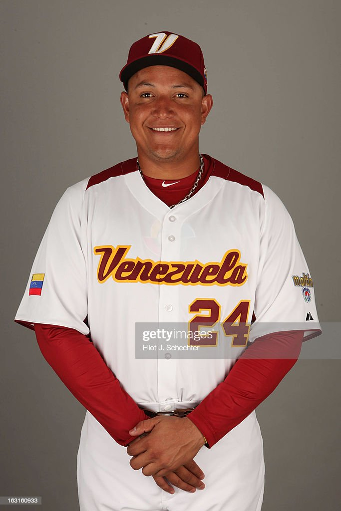 Miguel Cabrera #24 of Team Venezuela poses for a headshot for the 2013 World Baseball Classic at Roger Dean Stadium on Monday, March 4, 2013 in Jupiter, Florida.