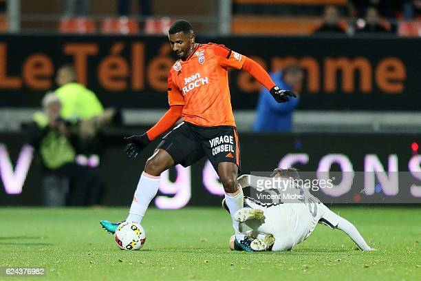 Miguel Cafu of Lorient during the Ligue 1 match between Fc Lorient and As Monaco at Stade du Moustoir on November 18 2016 in Lorient France