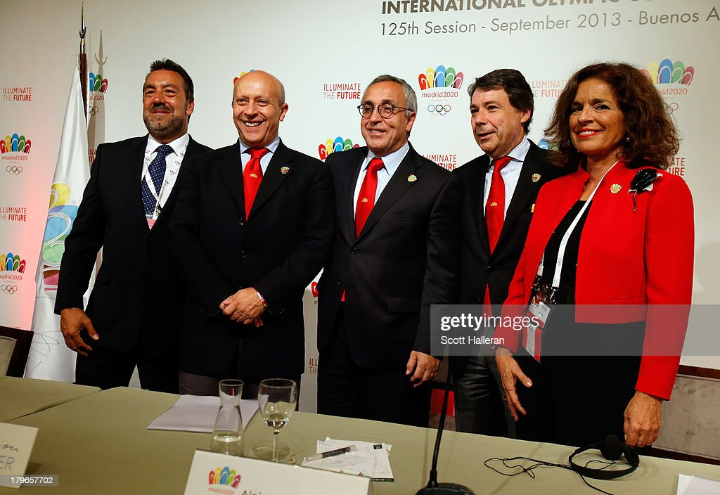 Miguel Carballeda Jose Ignacio WertPresident of the Madrid 2020 bid committee Alejandro Blanco Mayor of Madrid Ana Botella and President of the...