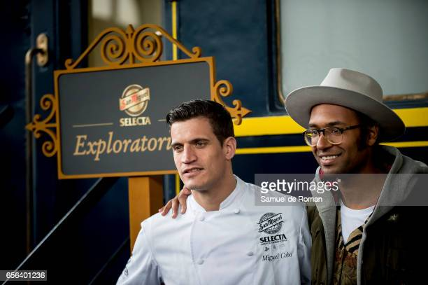 Miguel Cobo and Johann Wald presents the 'Exploratorium San Miguel beer' on March 23 2017 in Madrid Spain