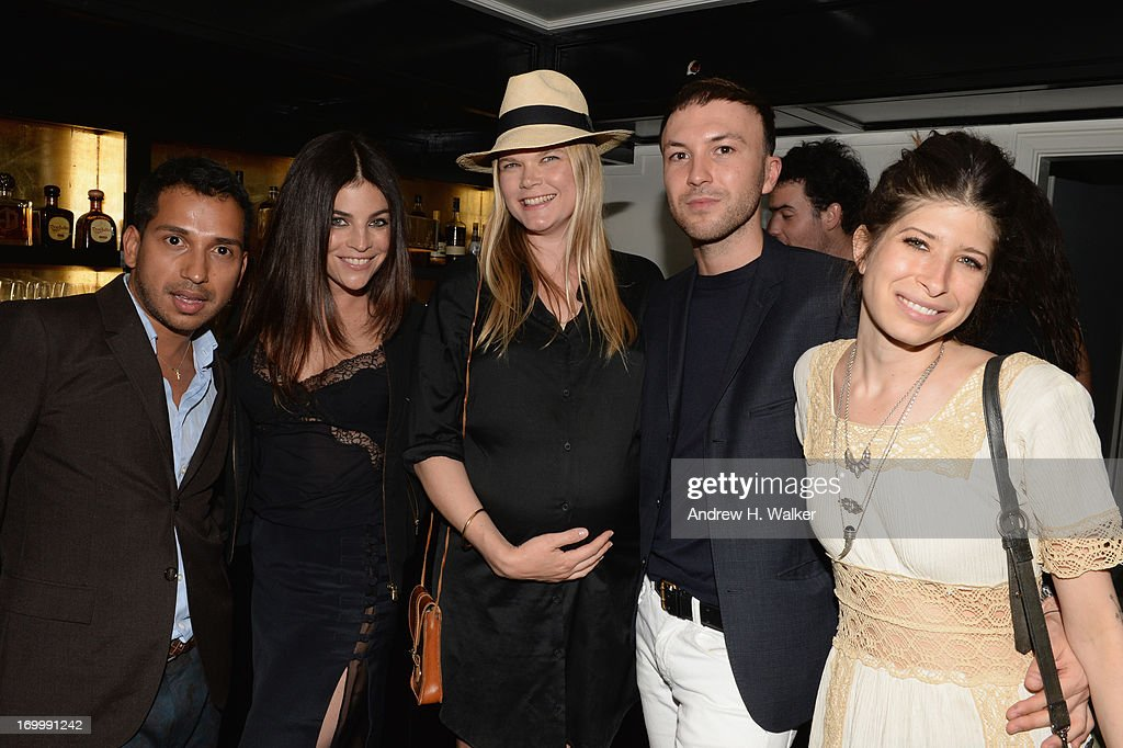 Miguel Enamorado, Julia Restoin Roitfeld , Kate Schelter, Tom Van Dorpe, and Pamela Love attend the Casadei dinner at Omar's, hosted by Julia Restoin Roitfeld and Cesare Casadei celebrating Resort 2014 at on June 5, 2013 in New York City