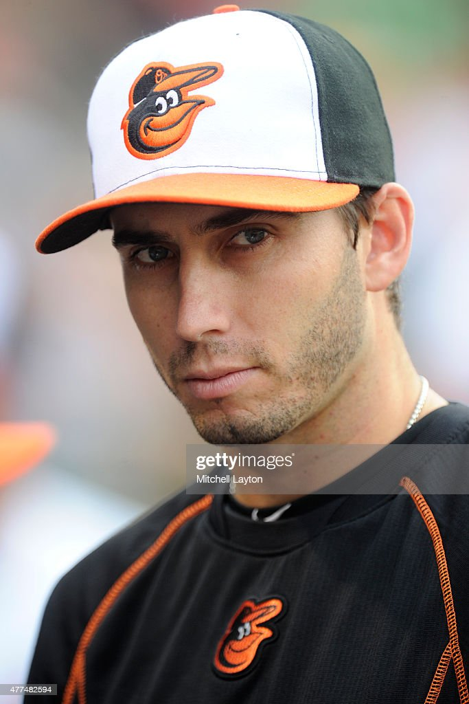 Miguel Gonzalez #50 of the Baltimore Orioles looks on before a baseball game against the Boston Red Sox at Oriole Park at Camden Yards on June 11, 2015 in Baltimore, Maryland. The Orioles won 6-5.