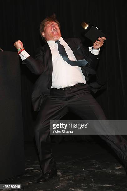 Miguel Herrera 'Piojo' is seen during the GQ Men Of The Year Award 2014 on November 6 2014 in Mexico City Mexico