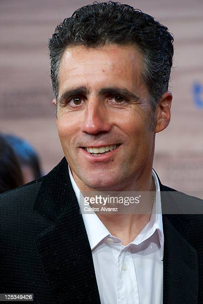 Miguel Indurain attends 'Intruders' premiere at the Kursaal Palace during the 59th San Sebastian International Film Festival on September 16 2011 in...