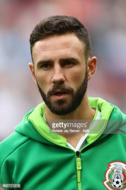 Miguel Layun of Mexico looks on prior to the FIFA Confederations Cup Russia 2017 Group A match between Mexico and Russia at Kazan Arena on June 24...