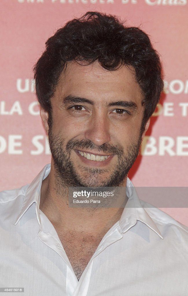 Miguel Manrique attends 'Ciudad Delirio' premiere photocall at Academia del cine on September 2, 2014 in Madrid, Spain.