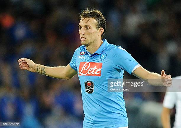 Miguel Michu of Napoli in action during the Serie A match between SSC Napoli and Torino at Stadio San Paolo on October 5 2014 in Naples Italy