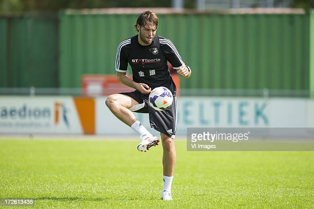 Miguel Michu of Swansea City during a training session of Swansea City on July 4 2013 at Sportcomplex Jan van Beerstraat in The Hague Netherlands